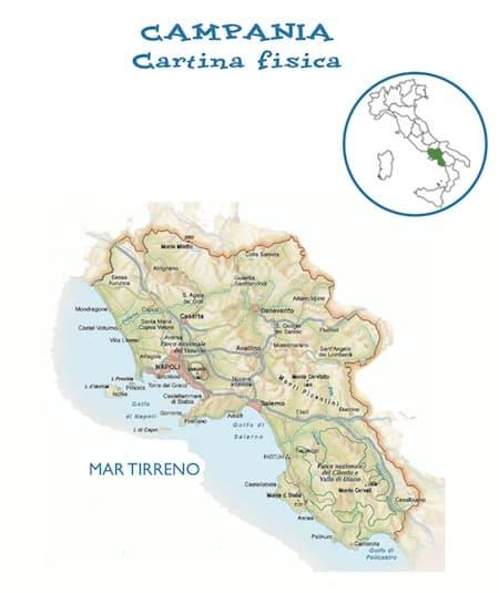 Cartina Geografica Della Calabria Fisica.Cartina Fisica Della Campania Da Stampare Gratis Per La