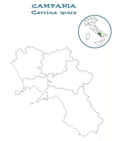 Cartina Muta Delle Marche Da Stampare.Cartina Campania Muta
