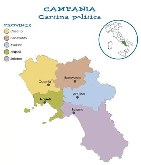Cartina Geografica Politica Della Campania.Cartina Politica Della Campania Da Stampare Gratis Per La Scuola