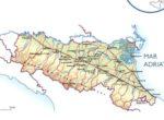 Cartina fisica dell'Emilia Romagna