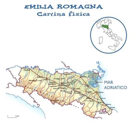 Cartina Italia Fisica Emilia Romagna.Cartina Geografica Fisica Della Regione Emilia Romagna Da Stampare Gratis