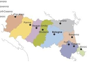 Cartina Topografica Emilia Romagna.Cartina Politica Emilia Romagna Da Stampare Per La Scuola Primaria