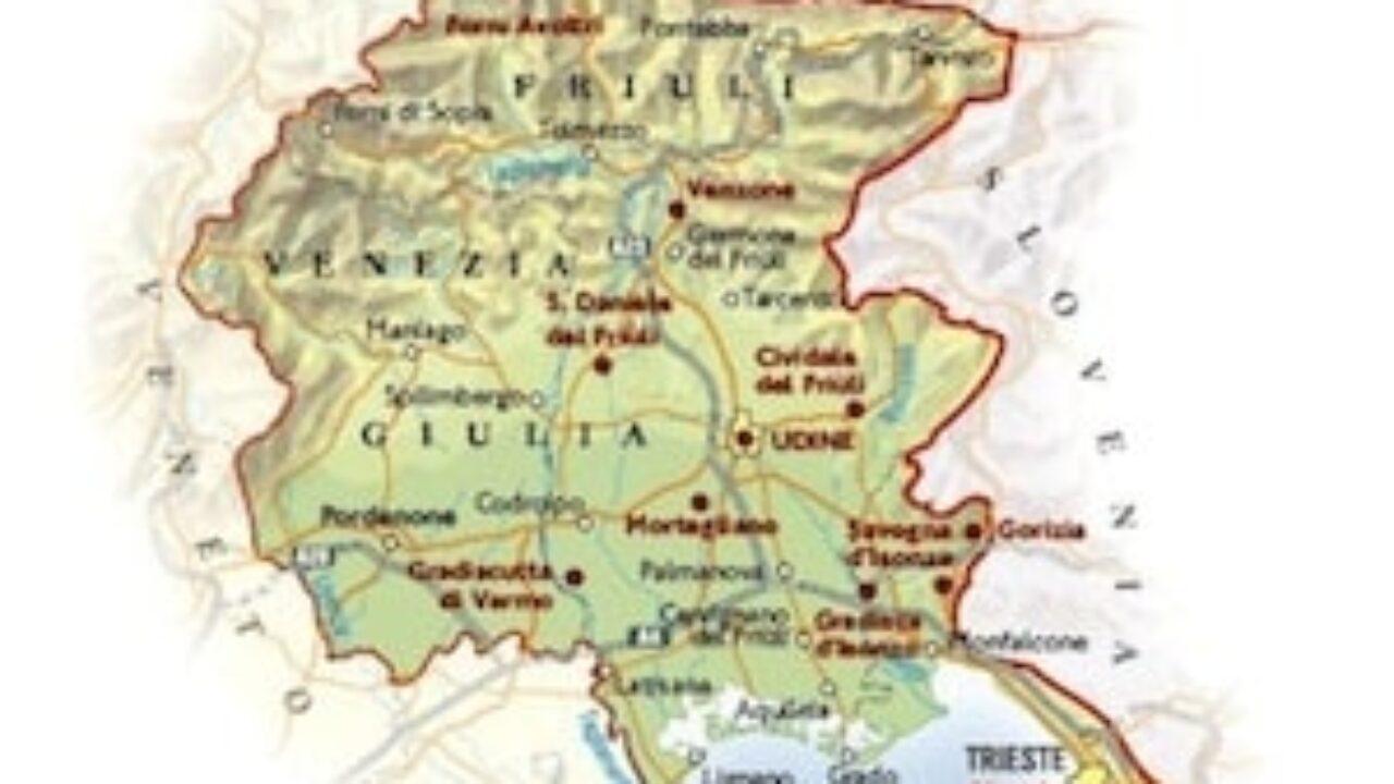Cartina Friuli Venezia Giulia Da Stampare.Cartina Fisica Del Friuli Venezia Giulia Da Stampare Gratis Scuola Primaria
