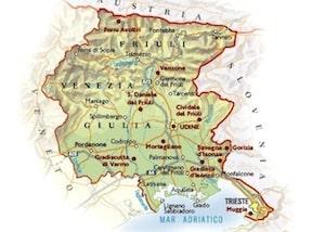 Cartina Friuli E Veneto.Cartina Fisica Del Friuli Venezia Giulia Da Stampare Gratis Scuola Primaria