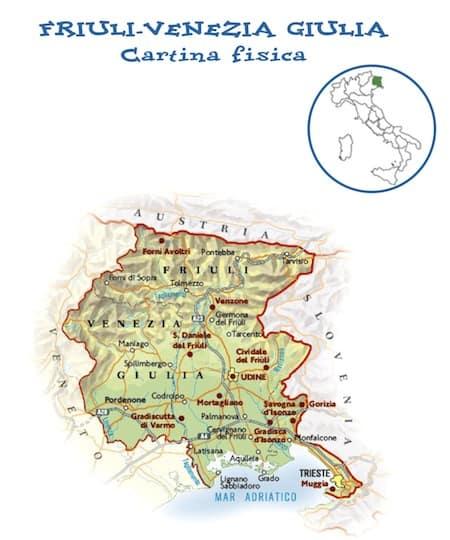 Cartina Fisica Del Veneto Da Stampare.Cartina Fisica Del Friuli Venezia Giulia Da Stampare Gratis Scuola Primaria