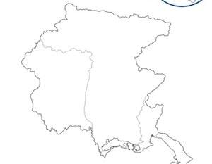 Cartina Friuli Venezia Giulia Da Stampare.Cartina Geografica Muta Del Friuli Venezia Giulia Da Stampare Gratis