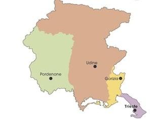 Cartina Friuli Venezia Giulia Province.Cartina Politica Friuli Venezia Giulia Da Stampare Gratis Scuola Primaria