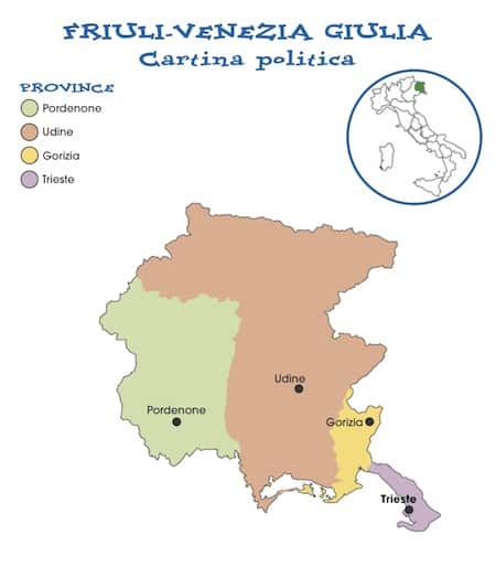 Cartina Friuli Venezia Giulia Da Stampare.Cartina Politica Friuli Venezia Giulia Da Stampare Gratis Scuola Primaria