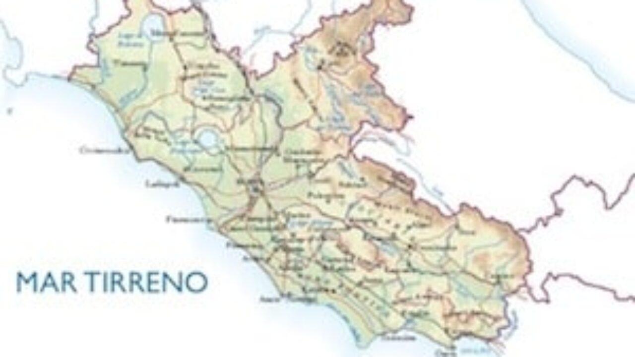 Cartina Regione Lazio Da Stampare.Cartina Fisica Del Lazio Da Stampare Gratis Per La Scuola Primaria