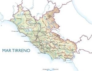 Cartina Italia Politica Lazio.Cartina Fisica Del Lazio Da Stampare Gratis Per La Scuola Primaria
