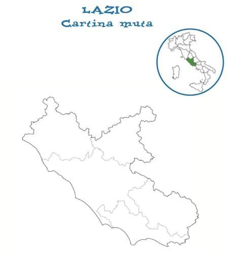 Cartina Regione Lazio Da Stampare.Cartina Muta Del Lazio Da Stampare Gratis Per La Scuola Primaria