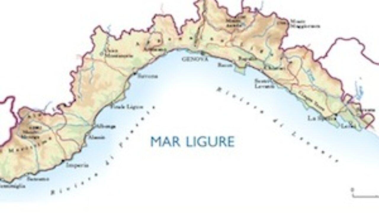 Cartina Della Liguria Politica.Cartina Fisica Liguria Da Stampare Gratis Per I Bambini Della Scuola Primaria