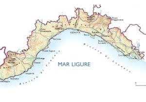 Regione Liguria Cartina Fisica.Cartina Fisica Liguria Da Stampare Gratis Per I Bambini Della Scuola Primaria