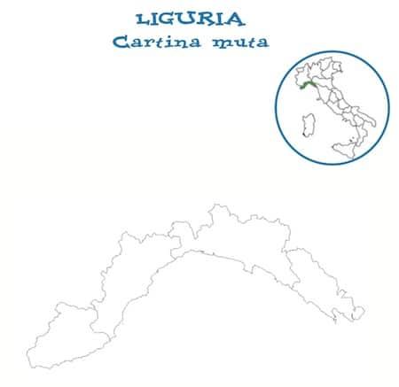 Regione Liguria Cartina Fisica.Cartina Muta Liguria Da Stampare Gratis Per La Scuola Primaria