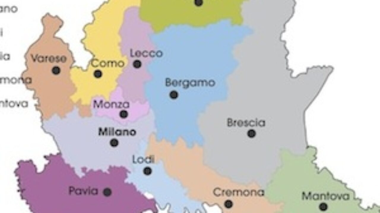 Cartina Muta Lombardia Province.Cartina Politica Lombardia Da Stampare Gratis Per La Scuola Primaria