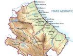 Cartina fisica dell'Abruzzo