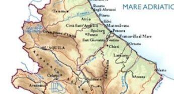 Cartina Dettagliata Abruzzo.Carte Geografiche Della Regione Abruzzi Per I Bambini Della Scuola Primaria