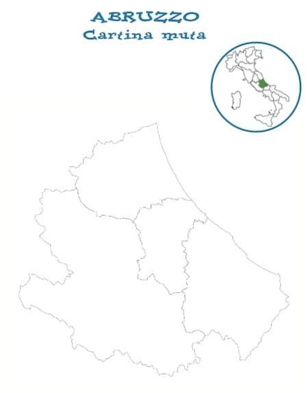 Cartina Abruzzo Pdf.Cartina Muta Dell Abruzzo Da Stampare Gratis Per La Scuola Primaria