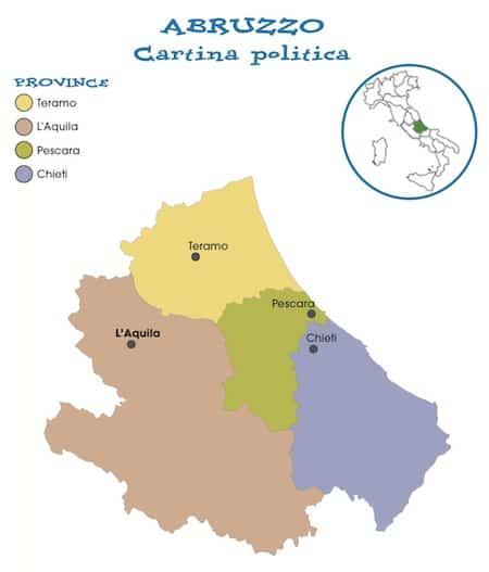 Cartina Politica Italia Abruzzo.Cartina Politica Della Regione Abruzzo Da Stampare Gratis Scuola Primaria