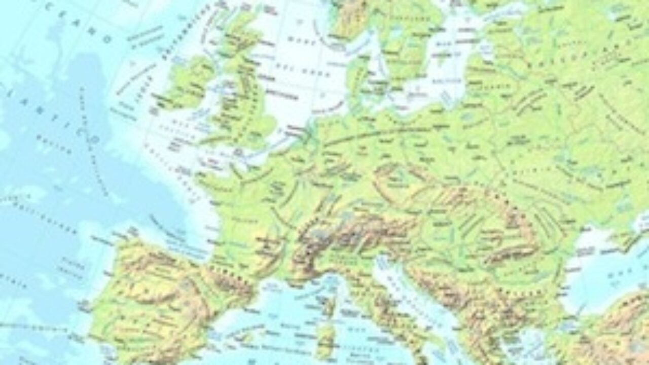 Cartina Muta Europa Atlantica.Cartina Fisica Europa Da Stampare Gratis Scuola Primaria E Media