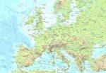 Cartina fisica dell'Europa
