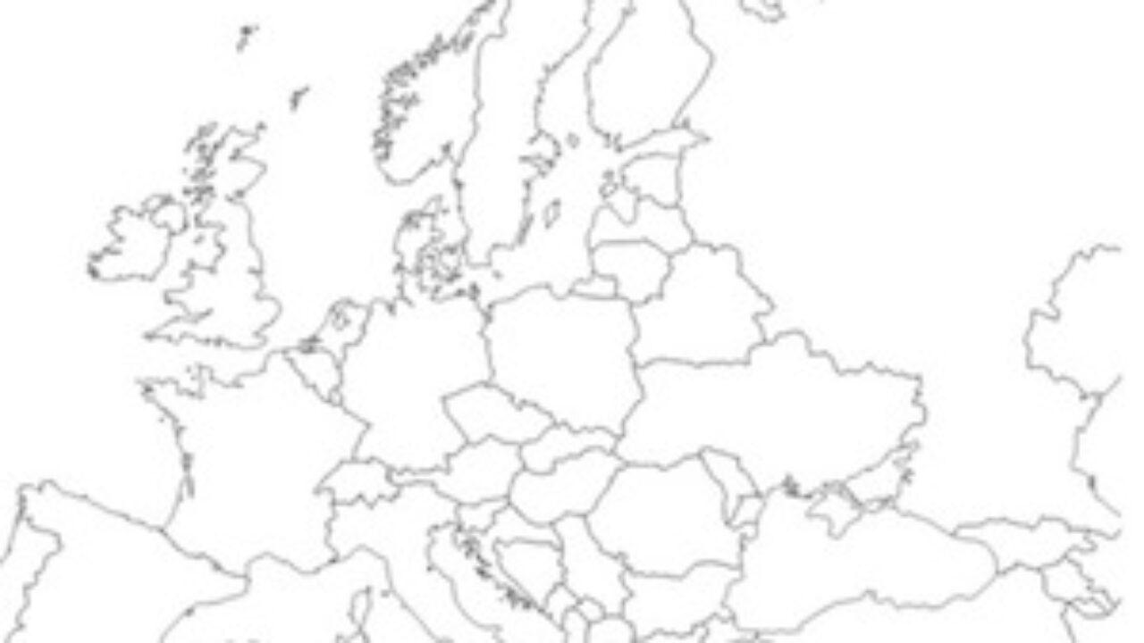 Cartina Politica Muta.Cartina Muta Dell Europa Da Stampare Gratis Scuola Primaria E Media