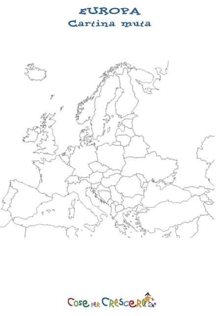 Cartina Europa Da Stampare.Cartina Muta Dell Europa Da Stampare Gratis Scuola