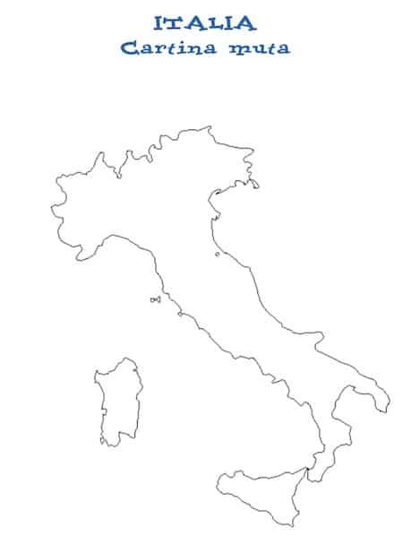 Cartina Italia Per Bambini Da Stampare.Cartina Italia Muta Da Stampare Gratis Per La Scuola Primaria E Media
