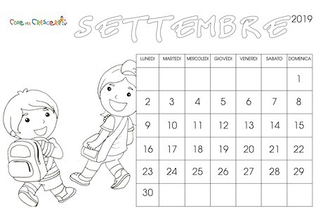 Calendario Dentini.Calendario Per La Scuola 2019 2020 Da Stampare Gratis E Da