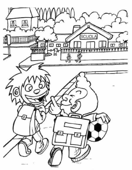 Disegno Per Bambini Di Compagni Di Scuola Da Stampare Gratis E