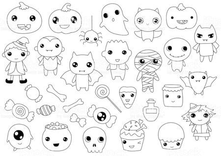 Disegni Per Bambini Kawaii Halloween Da Stampare Gratis E Da Colorare