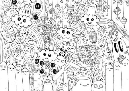 Totoro Da Stampare Gratis E Da Colorare Disegno Kawaii Per Bambini