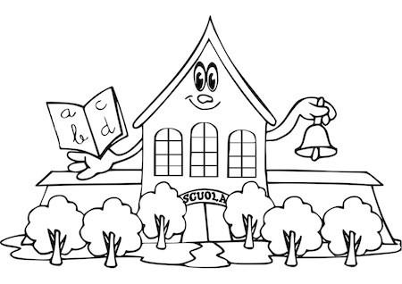 Disegno Di Scuola Da Colorare.Disegno Di Scuola Per Bambini Da Stampare Gratis E Da Colorare