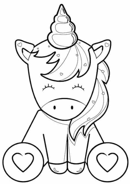 Disegno Unicorno Per Bambini