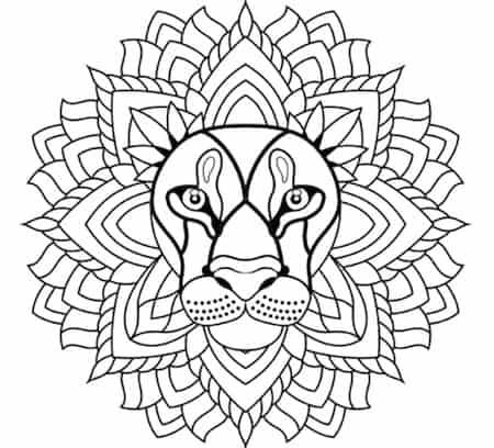 Disegni Da Colorare Mandala Da Stampare.Disegno Mandala Da Stampare Gratis E Colorare Il Leone Adatto Ai Bambini