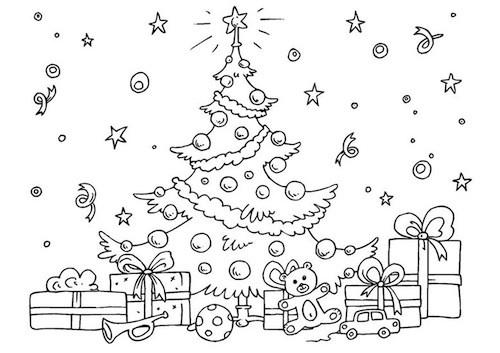 Foto Di Natale Da Colorare E Stampare.Disegno Di Albero Di Natale Per Bambini Da Stampare Gratis E