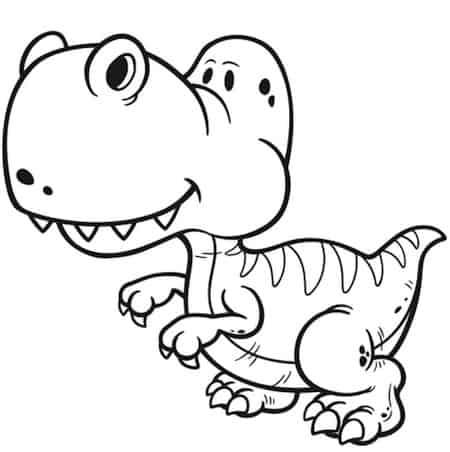 Disegno Di Dinosauro Da Colorare Per Bambini Tirannosauro Rex