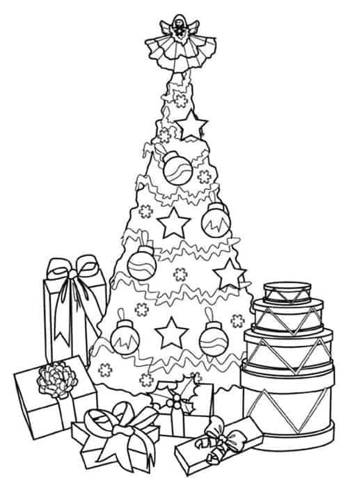 Disegno Di Albero Di Natale Per Bambini Da Colorare E Da Stampare