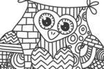 Mandala: disegno di un gufo