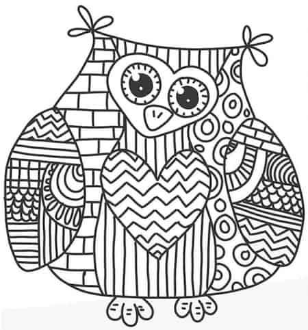Disegno Mandala Di Un Gufo Da Stampare Gratis E Colorare Per Bambini