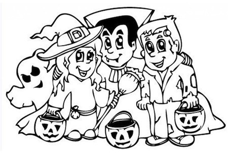 Disegno Personaggi Halloween Per Bambini Da Stampare Gratis E Colorare