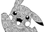 Pikachu: disegno mandala da colorare