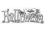 Scritta Halloween da colorare