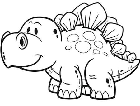 Piccolo Dinosauro Da Colorare Cose Per Crescere