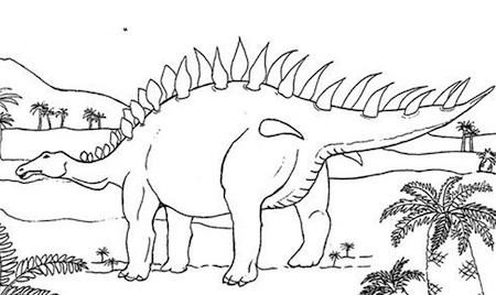 Disegno Di Stegosauro Da Stampare Gratis E Colorare Dinosauro