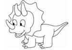 Dinosauro da colorare: un cucciolo di triceratopo