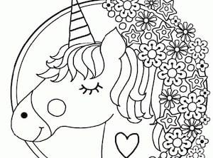 Disegni Da Colorare Mandala Da Stampare.Disegno Di Unicorno Per Bambini In Stile Mandala Da Stampare E Colorare