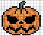 Zucca di Halloween in pixel art