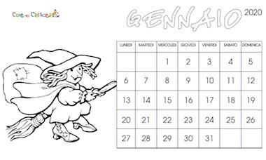 Calendario 2020 Per Bambini Da Stampare Gratis E Colorare