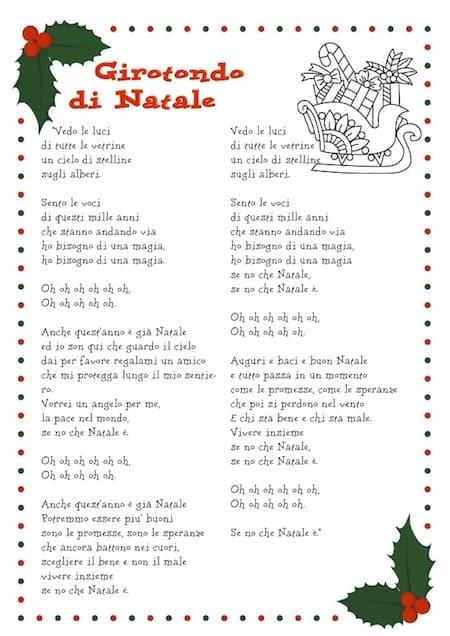 Testo Sara Natale Se.Girotondo Di Natale Canzone Di Natale Per Bambini Con Testo Da Stampare